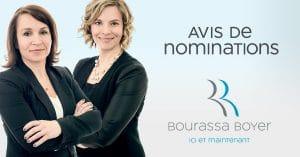 BB Avis de nominations 21 09 18 JG 300x157 - Deux nouvelles associées chez BOURASSA BOYER !